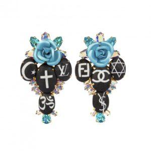 Boucles Holy Fashion Rosary Cross Bijoux de Famille