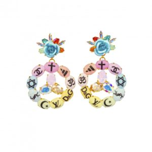Boucles Peace Rainbow Holy Fashion Bijoux de Famille