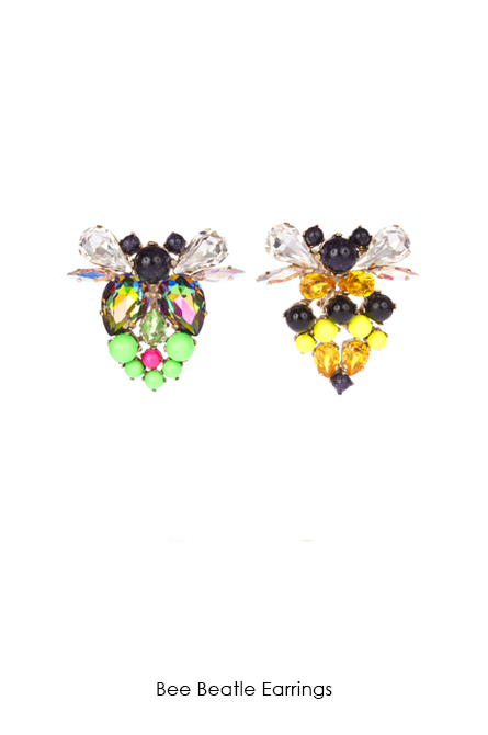 Bee Beatle Earrings-SS18 Collection-Bijoux de Famille