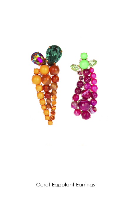 Carot Eggplant Earrings-SS18 Collection-bijoux de Famille