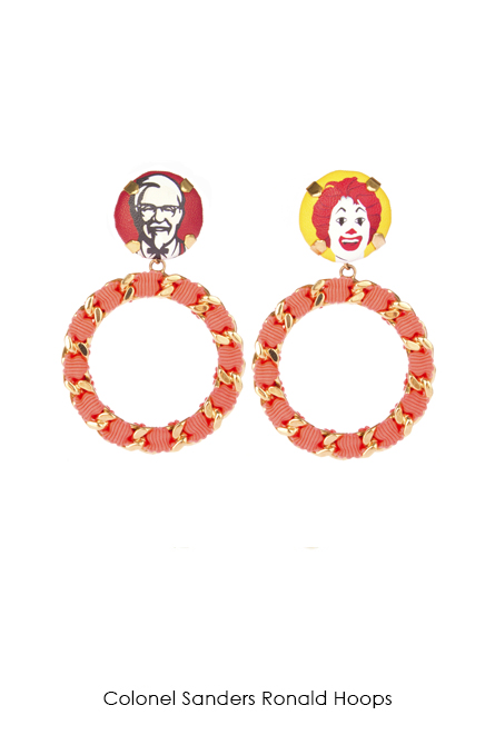 Colonel Sanders Ronald Earrings-SS18 Collection-Bijoux de Famille