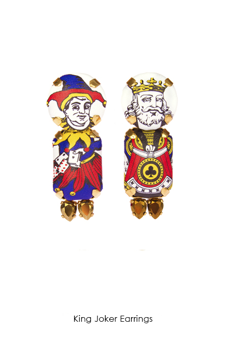 King Joker Earrings-SS18 Collection-Bijoux de Famille