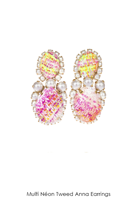 Multi Neon Tweed Anna Earrings-SS18 Collection-Bijoux de Famille