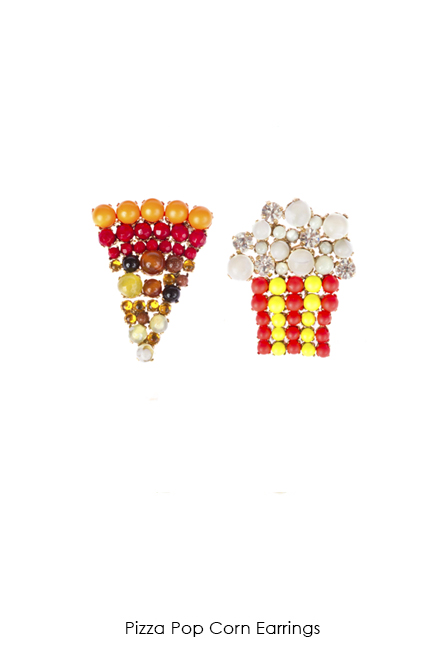 Pizza Pop Corn Earrings-SS18 Collection