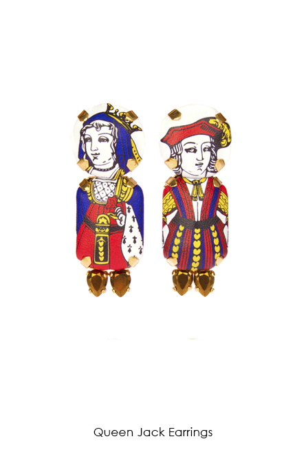 Queen Jack Earrings-SS18 Collection - Bijoux de Famille