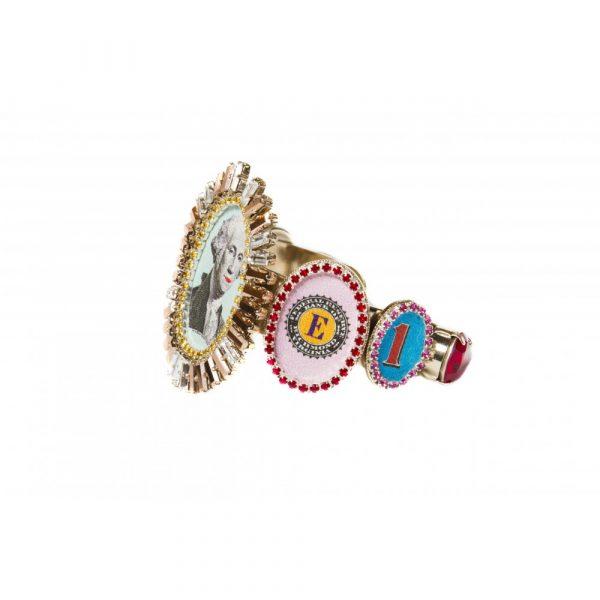 Bracelet Chocker Disco Funky Dollar Treasure -Bijoux de Famille