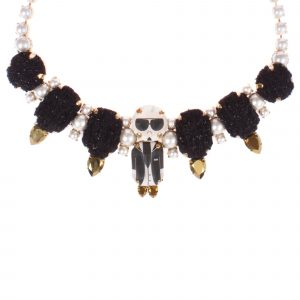 Collier Black Tweed Karl -Bijoux de Famille