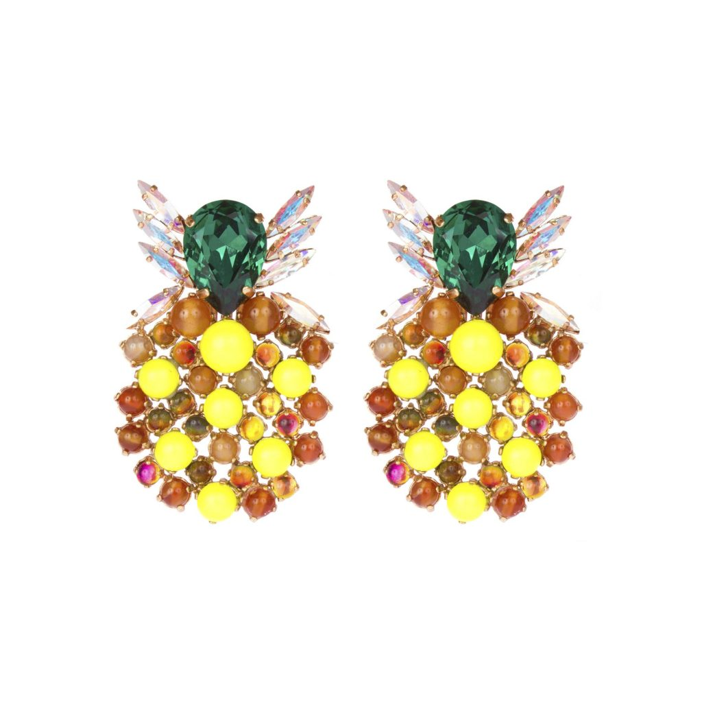 Boucles d'Oreilles Pineapple