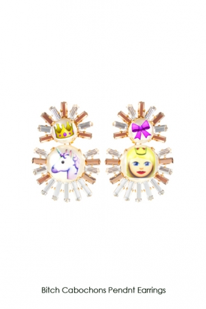 bitch-cabochons-pendant-earrings-Bijoux-de-Famille