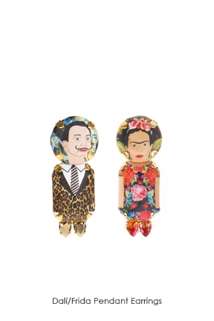 dali-frida-pendant-earrings-Bijoux-de-Famille