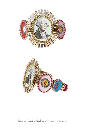 disco-funky-dollar-choker-bracelet-Bijoux-de-Famille
