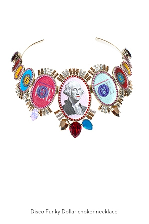 disco-funky-dollar-choker-necklace-Bijoux-de-Famille