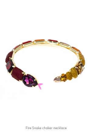 fire-snake-choker-bracelet-Bijoux-de-Famille