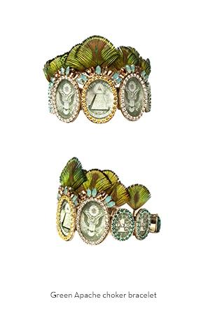 green-apache-choker-bracelet-Bijoux-de-Famille
