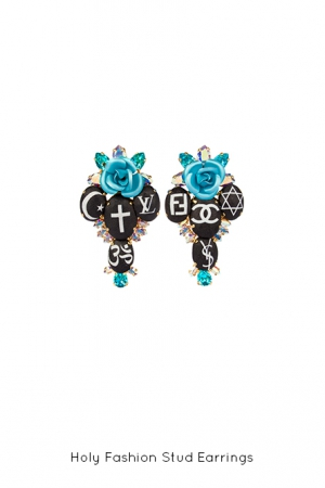holy-fashion-stud-black-earrings-Bijoux-de-Famille