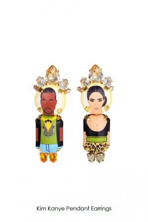 kim-kanye-pendant-earrings-Bijoux-de-Famille