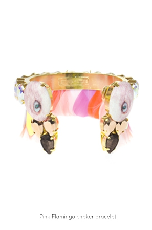 pink-flammingo-choker-bracelet-Bijoux-de-Famille