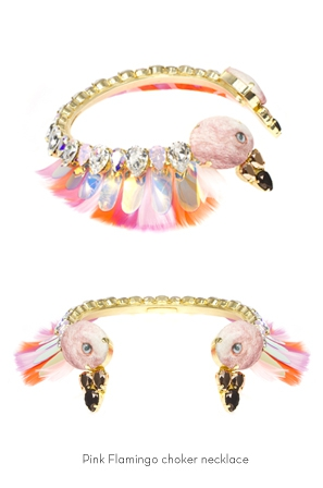 pink-flammingo-choker-necklace-Bijoux-de-Famille