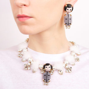 PORTE_FLUFFY COCO NK COCO ART EARRINGS