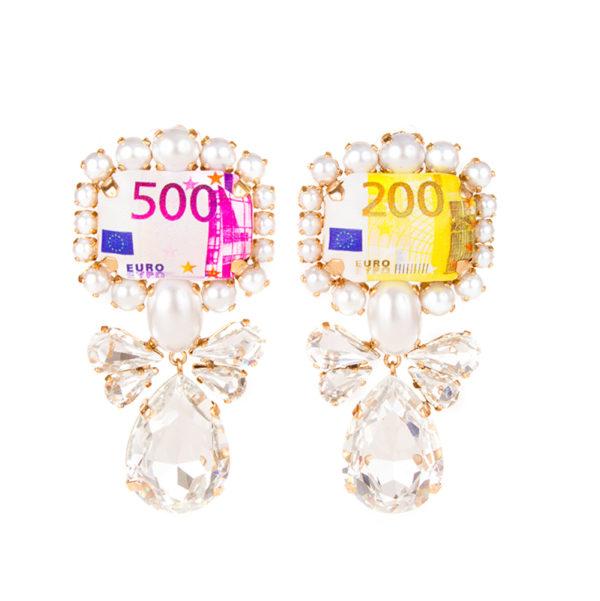 Rainbow euros earrings