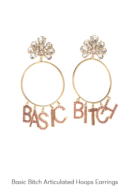 Basic Bitch Hoops Earrings
