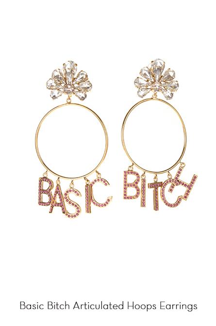 Basic Bitch Hoops Earrings