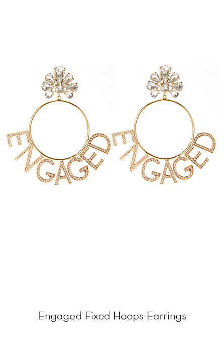 Engaged Hoops Earrings