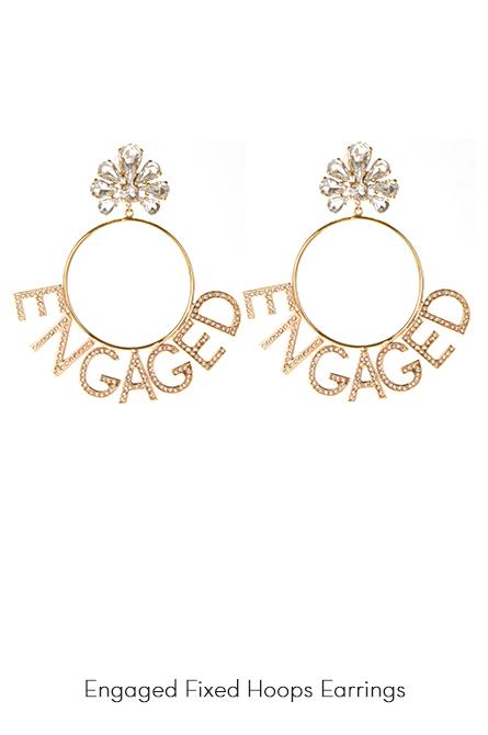 Engaged Hoops Earrings