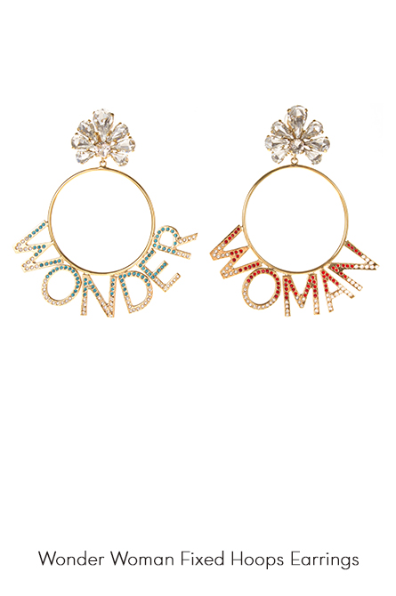 Wonder Woman Hoops Earrings