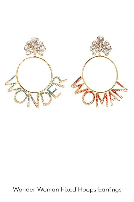 Wonder Woman Hoops Earrings