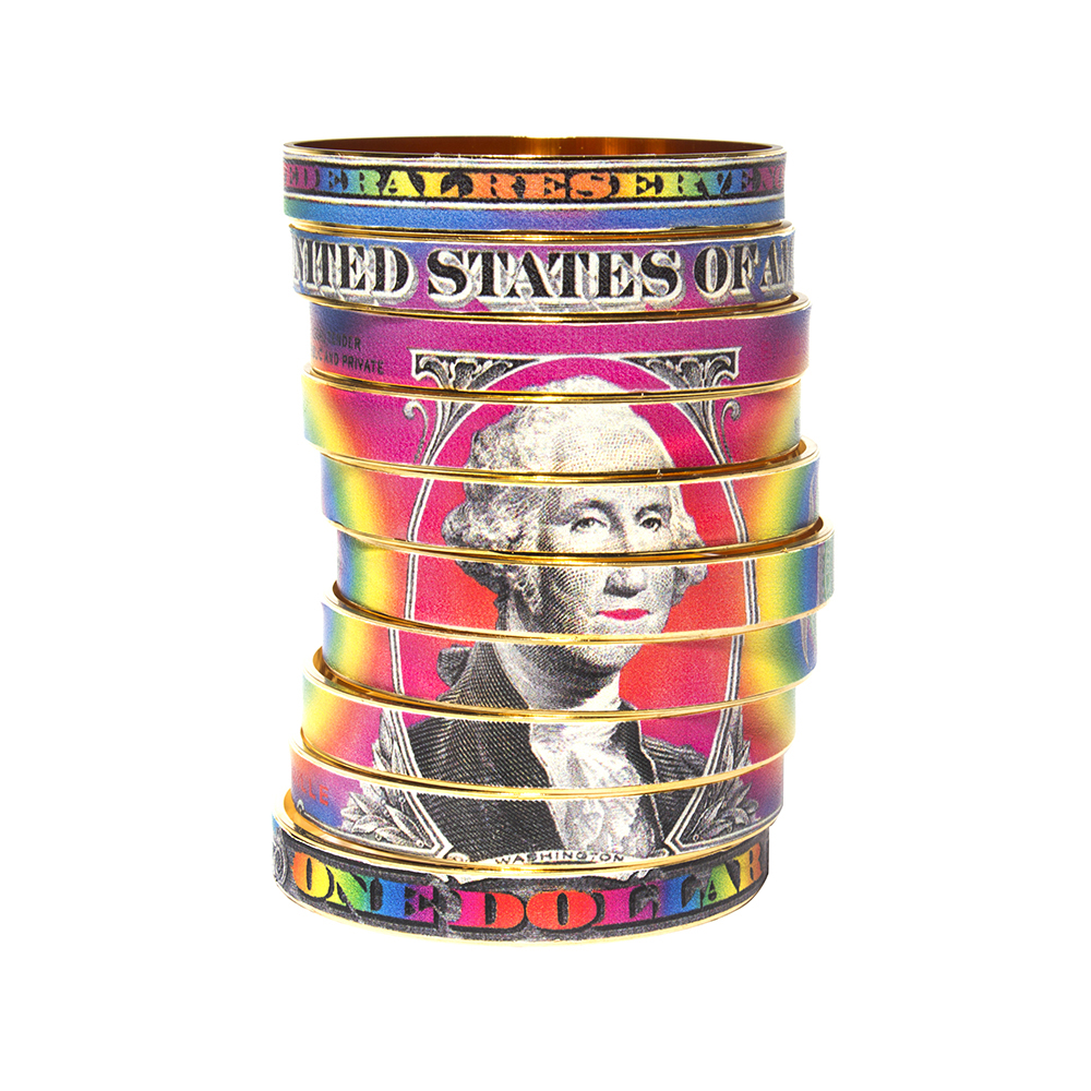 Manchette Rainbow Funky Dollar