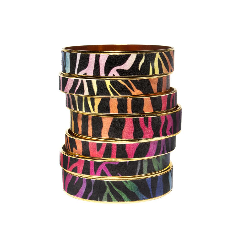 Rainbow Zebra Bangle