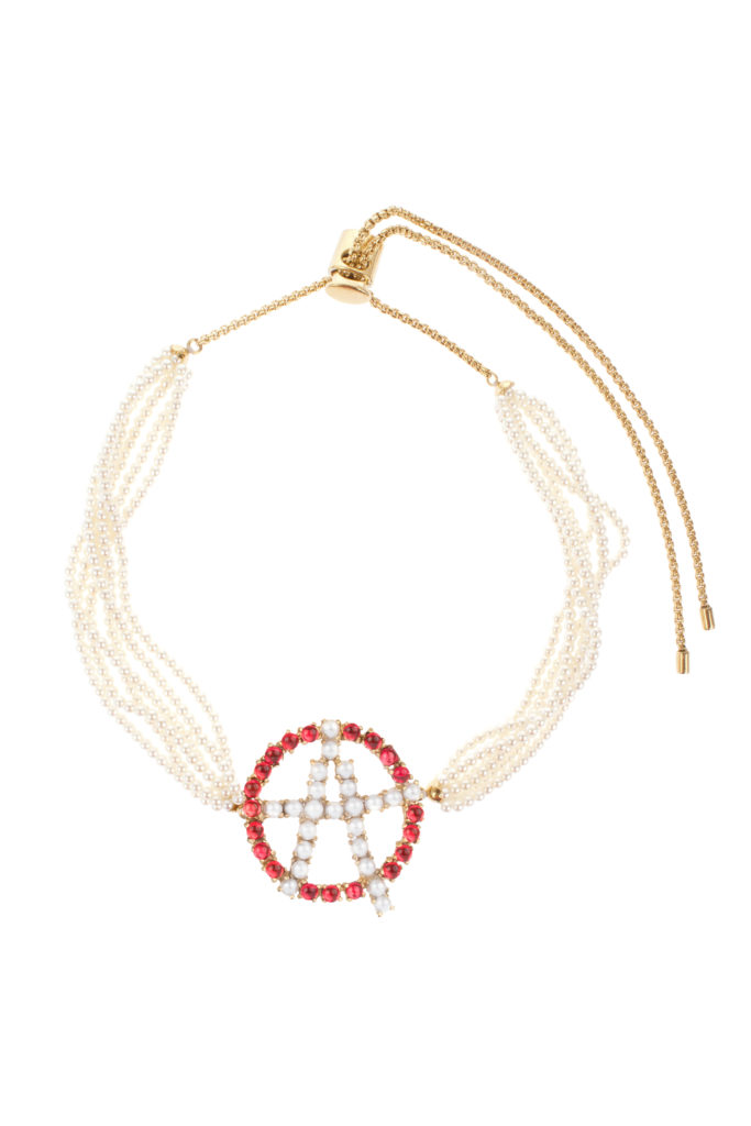 Anarchy Pearl Choker Necklace