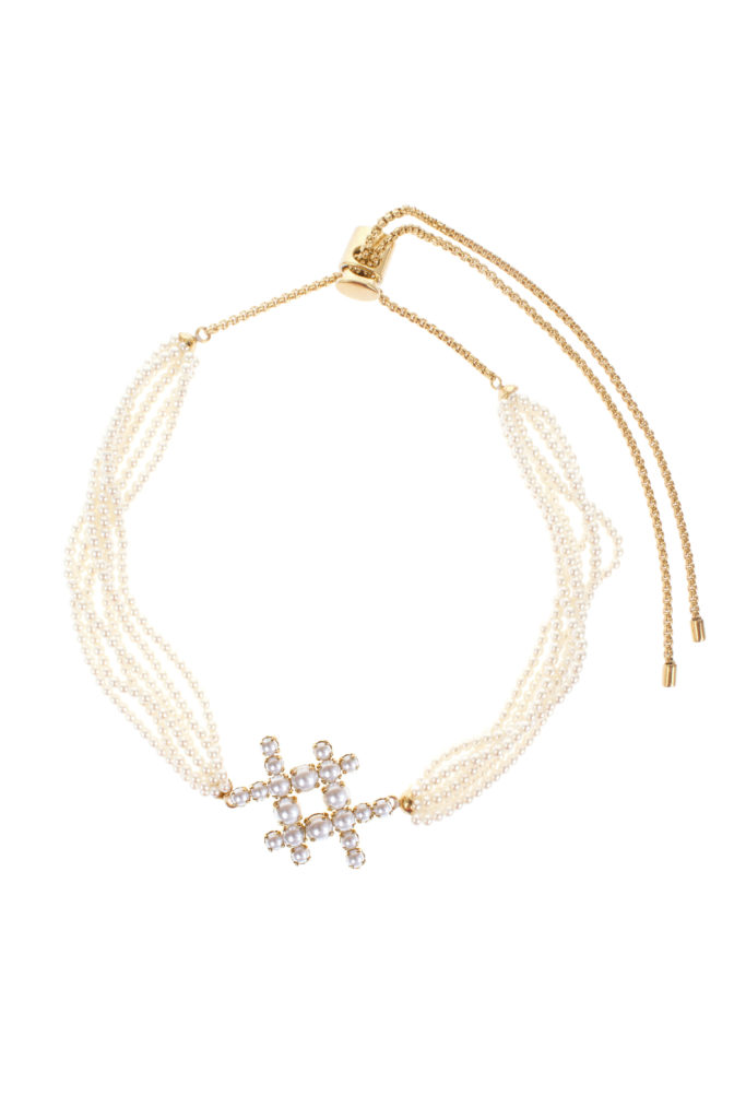 Hashtag Pearl Choker Necklace