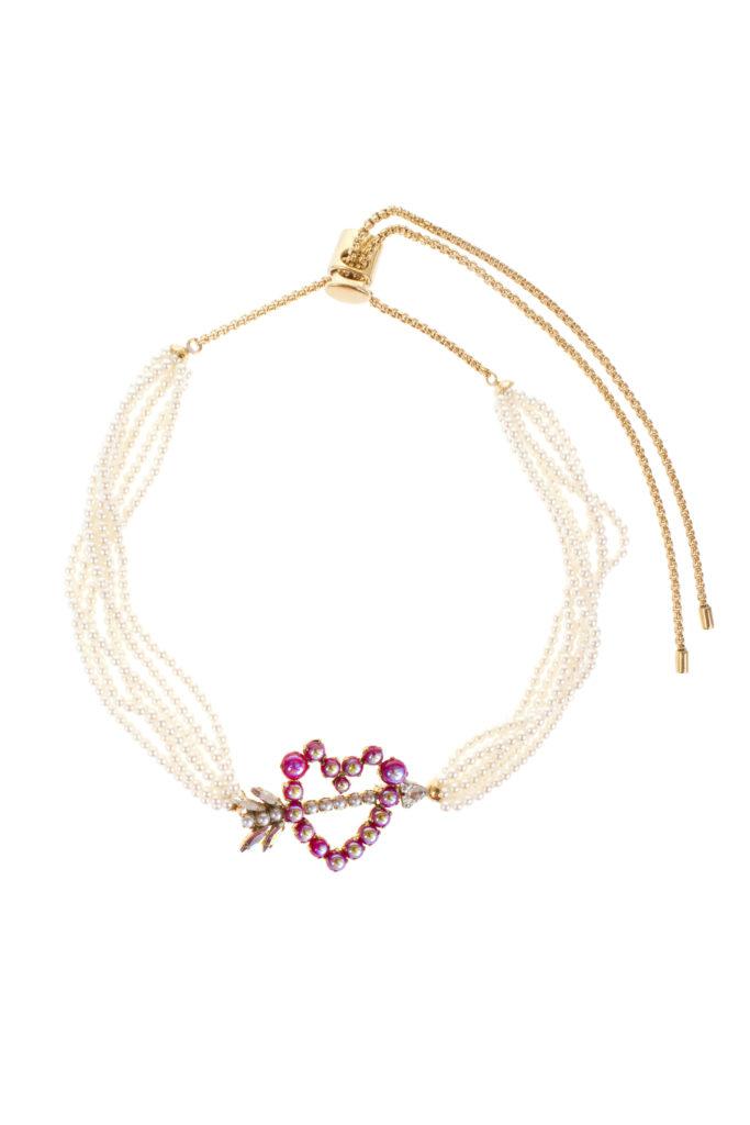 Heart Pearl Choker Necklace