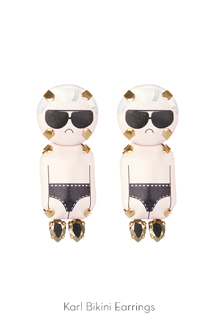 Karl Bikini Earrings