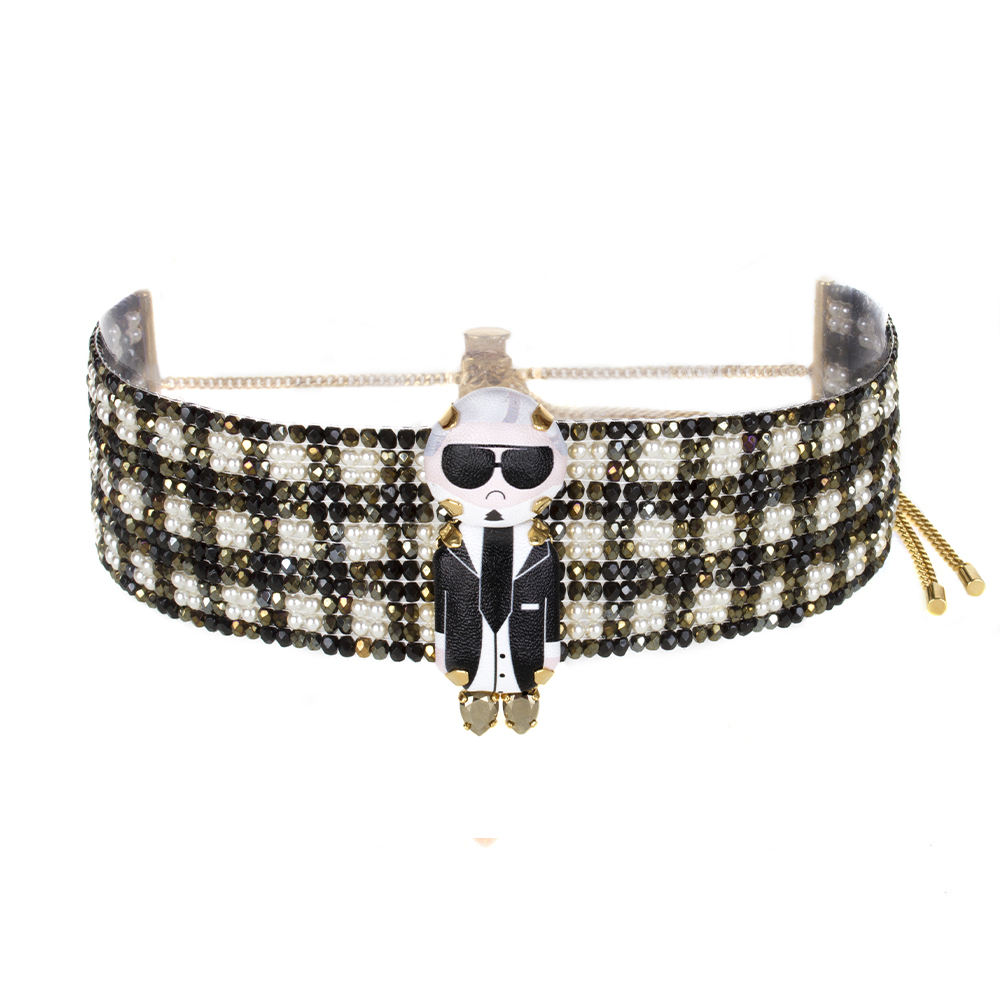 Karl Pearl Choker Necklace