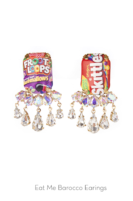 Eat Me Barocco earrings