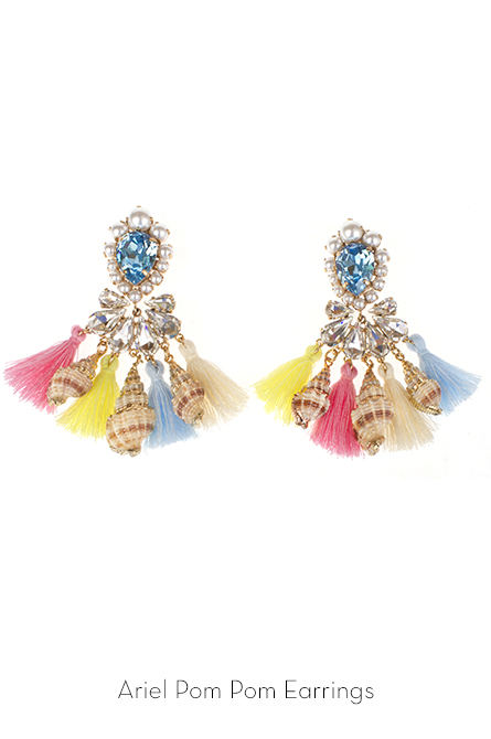 ariel pom earrings