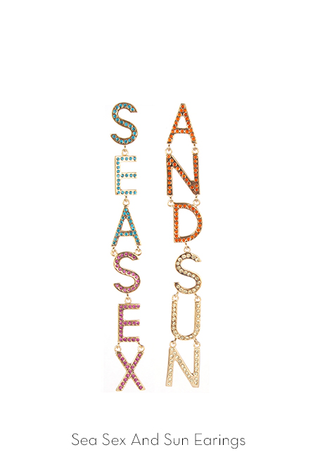 sea sex and sand earrings