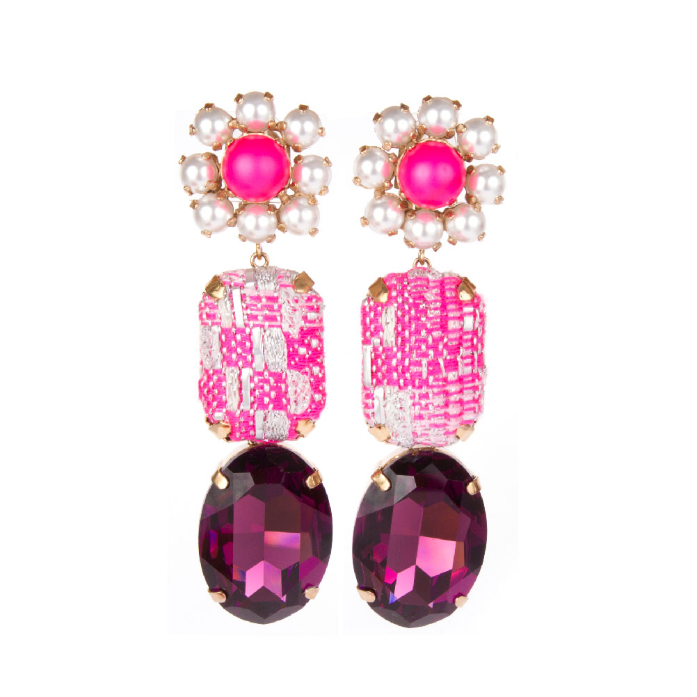 Boucles d'Oreilles Pink Paloma