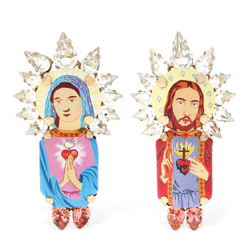 Boucles d'oreilles Jesus Marie Crown