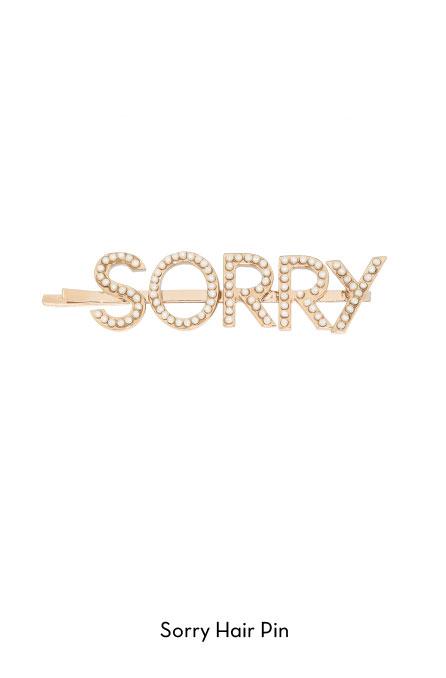 Sorry-hair pin
