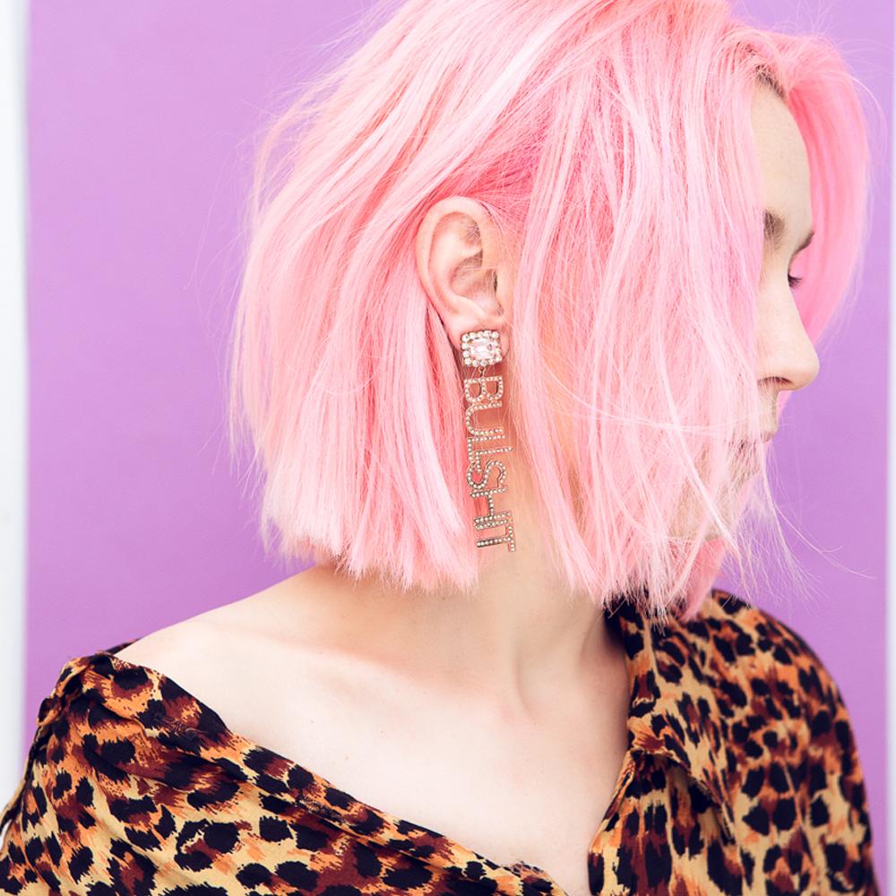Bullshit earrings