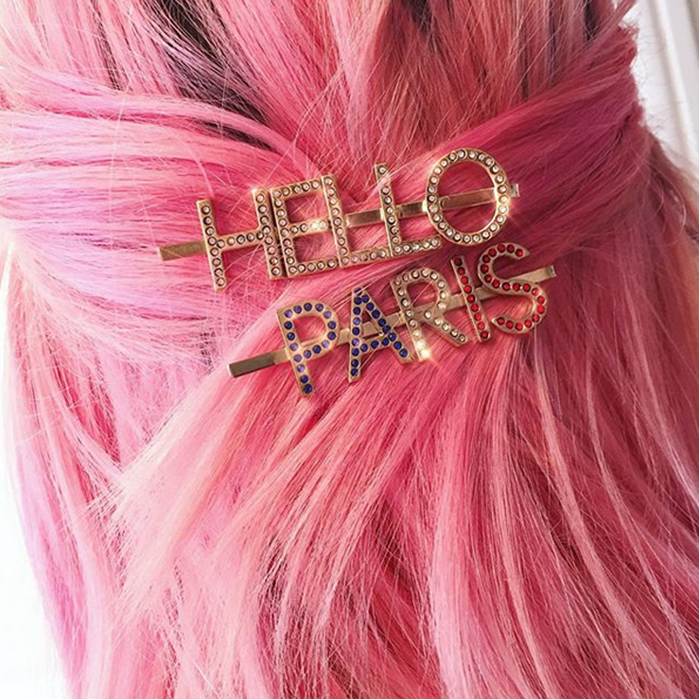 Barrettes Hello Paris