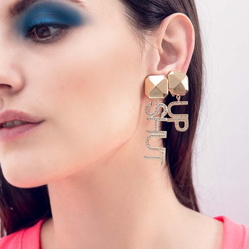 Shut up earrings